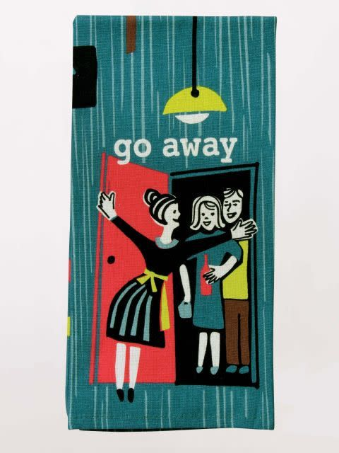 Blue Q Dish Towel-Go Away