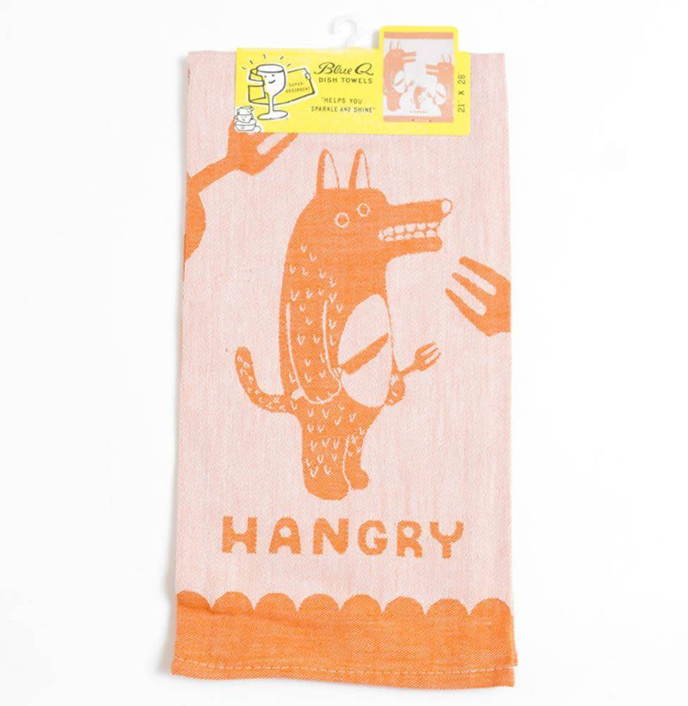 Blue Q Dish Towel-Hangry