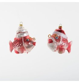 glitterville Mr & Mrs Claus Fish