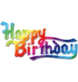 PFEIL & HOLING HAPPY BIRTHDAY RAINBOW PLAQUE 3 3/4''BOX 36 CT