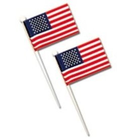 PFEIL & HOLING U.S. FLAGS - WHITE PICK 3 1/2'' BOX 144 CT
