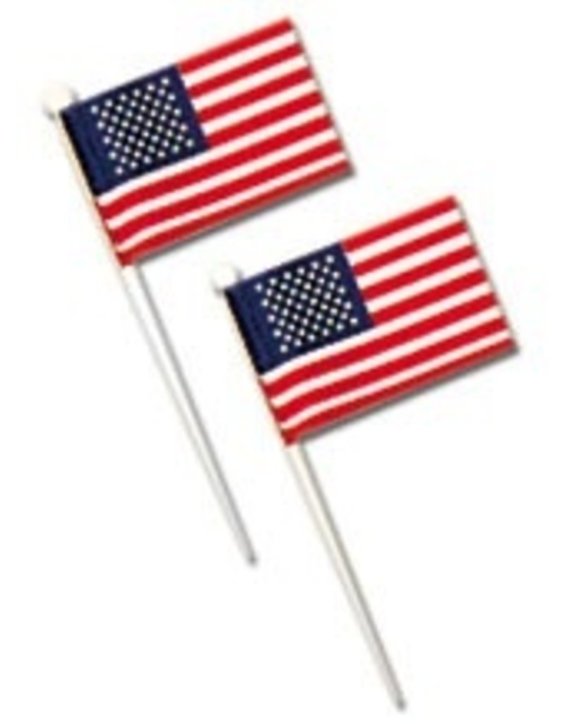 PFEIL & HOLING U.S. FLAGS - WHITE PICK 3 1/2'' BOX 144 CT