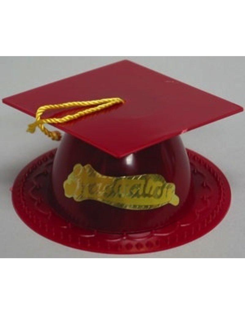 PFEIL & HOLING MAROON GRADUATION CAP 3 1/2'' BOX 24 CT