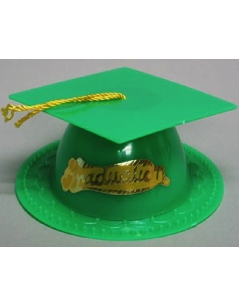 PFEIL & HOLING GREEN GRADUATION CAP 3 1/2'' BOX 24 CT