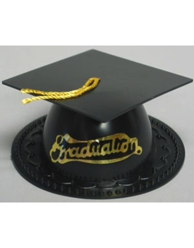 PFEIL & HOLING BLACK GRADUATION CAP 3 1/2'' BOX 24 CT