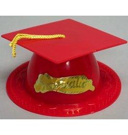 PFEIL & HOLING RED GRADUATION CAP 3 1/2'' BOX 24 CT