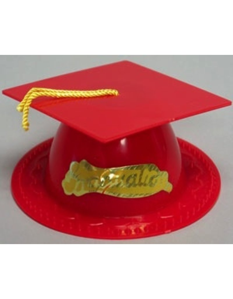 PFEIL & HOLING RED GRADUATION CAP 3 1/2'' BOX 24 CT