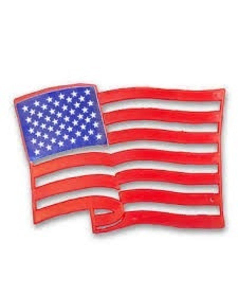 PFEIL & HOLING AMERICAN FLAG PLAQUE 4'' PKG 12 CT
