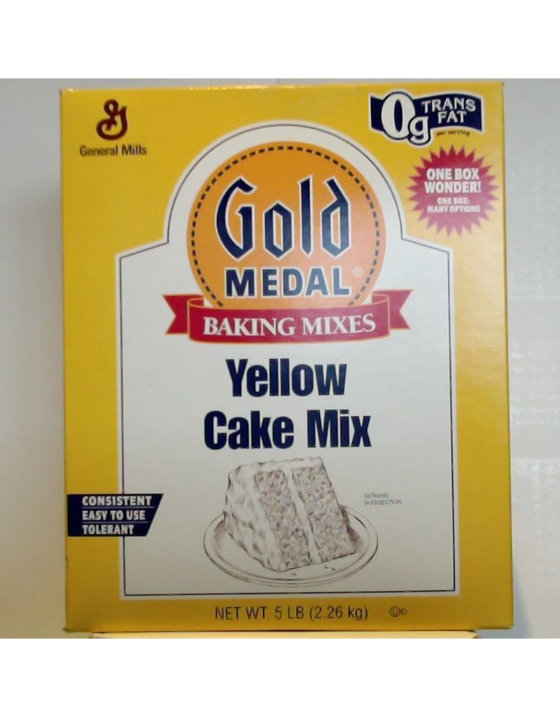 GENERAL MILLS YELLOW CAKE MIX 5 LB EA
