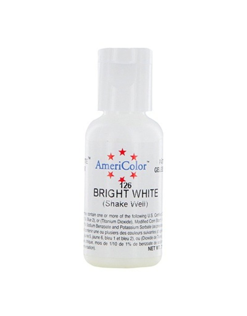 ATECO AMERICOLOR BRIGHT WHITE GEL PASTE .75 OZ