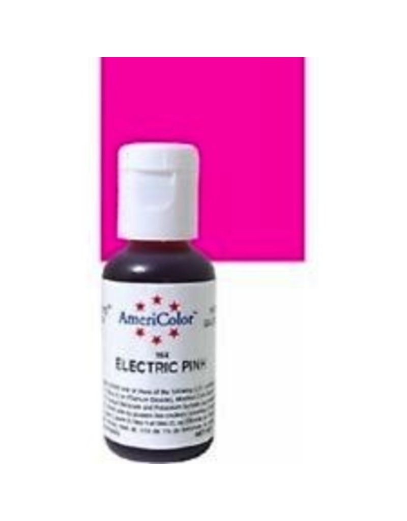 ATECO AMERICOLOR ELECTRIC PINK GEL PASTE .75 OZ