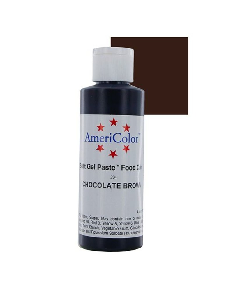 ATECO AMERICOLOR CHOCOLATE GEL PASTE 4.5 OZ