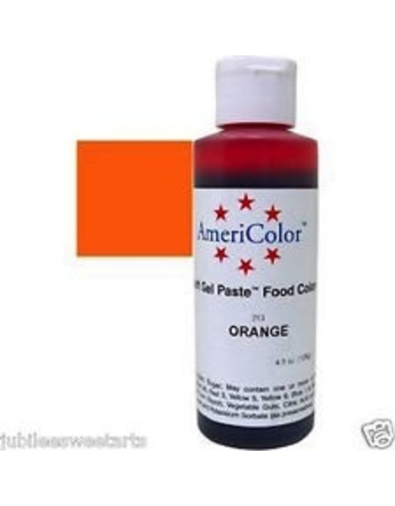 ATECO AMERICOLOR ORANGE GEL PASTE 4.5 OZ