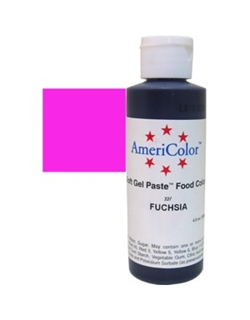 ATECO AMERICOLOR FUCHSIA GEL PASTE 4.5 OZ