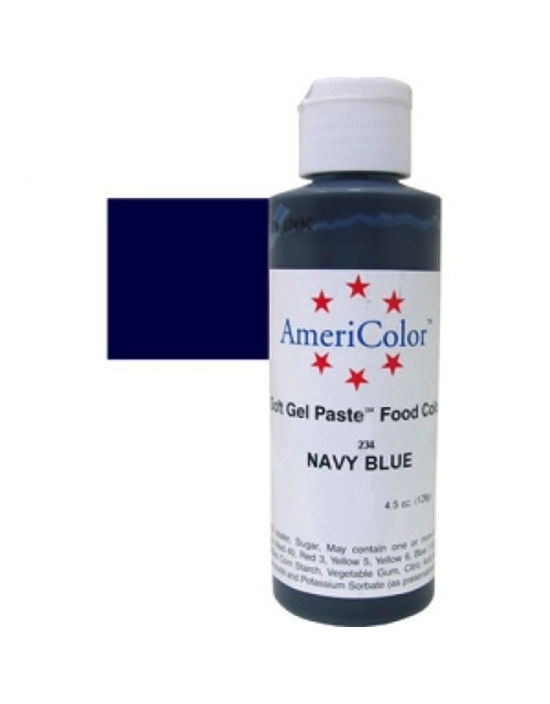 ATECO AMERICOLOR NAVY BLUE GEL PASTE 4.5 OZ