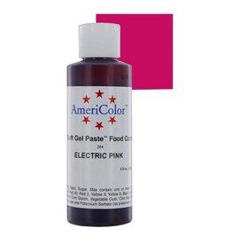 ATECO AMERICOLOR ELECTRIC PINK GEL PASTE 4.5 OZ