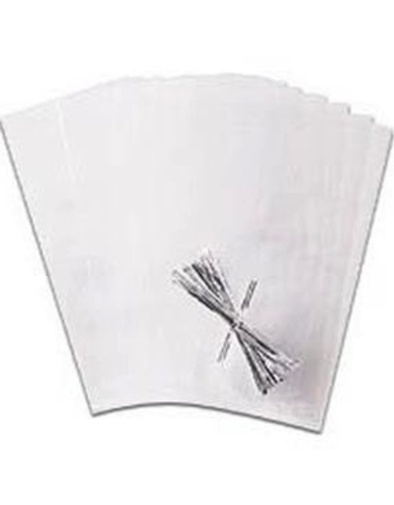 WILTON ENTERPRISES CLEAR PARTY BAGS W/ TIES 4 X 9 1/2'' PKG 25 CT