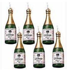 WILTON ENTERPRISES CHAMPAGNE BOTTLE CANDLES 6 CT