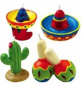 WILTON ENTERPRISES FIESTA CANDLES 4 CT EA