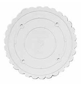 WILTON ENTERPRISES 6'' RND SCALLOPED DECO PREF SEP PLATE EA