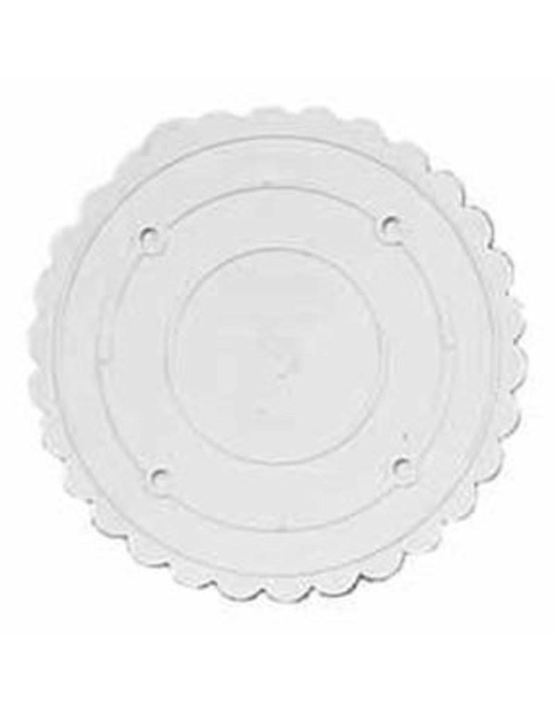 WILTON ENTERPRISES 8'' RND SCALLOPED DECO PREF SEP PLATE EA