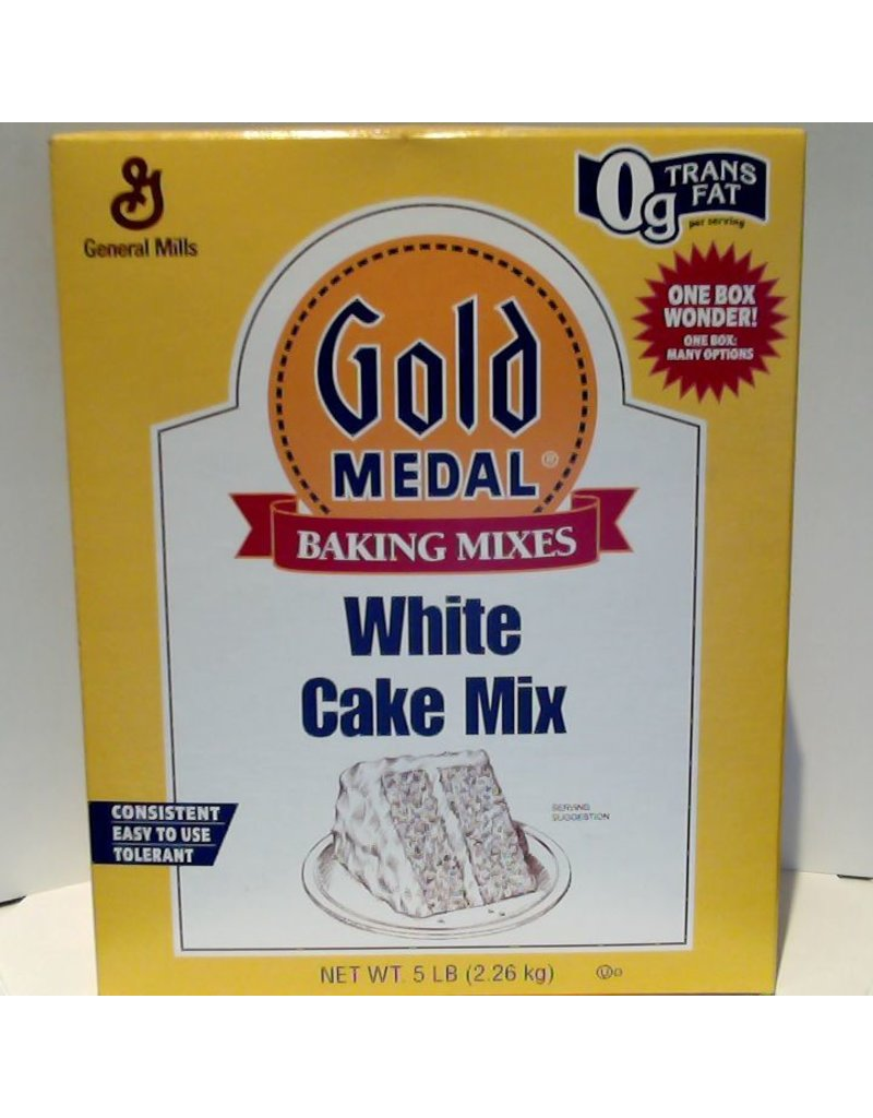 GENERAL MILLS WHITE CAKE MIX 5 LB EA