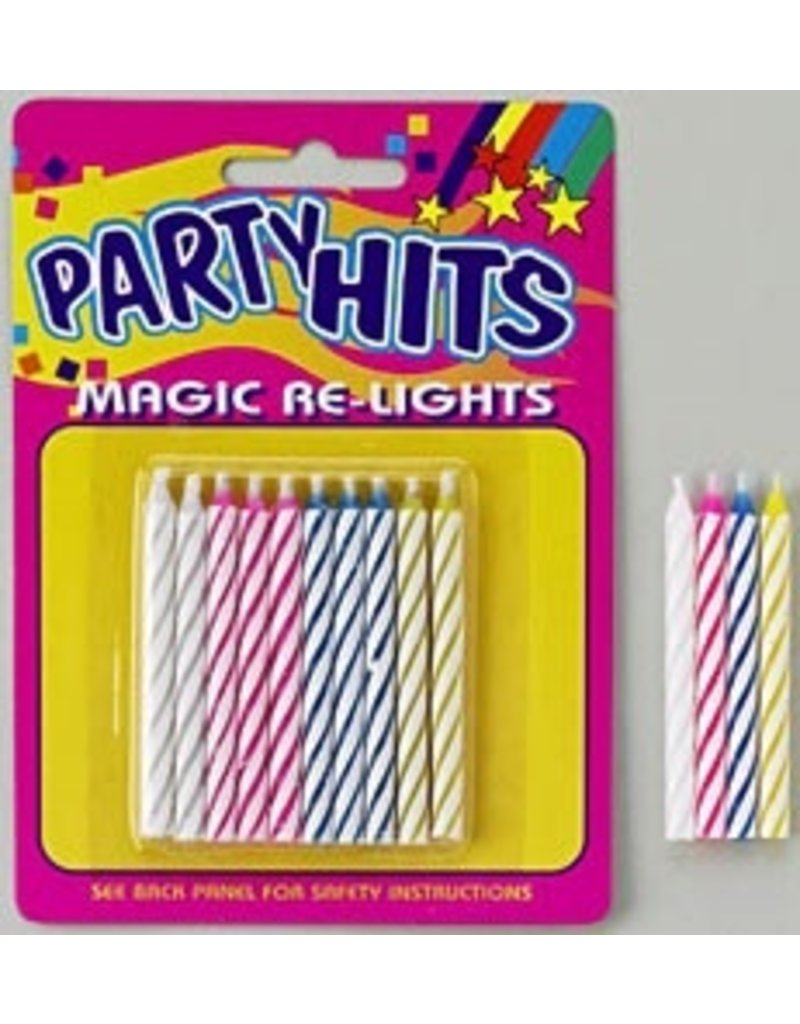 PFEIL & HOLING MAGIC RELIGHT CANDLE MULTI 2 1/2'' BOX 12 PACKS