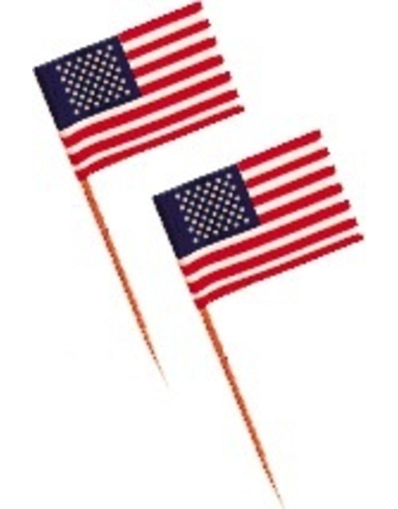 PFEIL & HOLING U.S. FLAG PICK  - SMALL 2 1/2'' BOX 144 CT