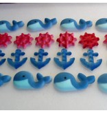 LUCKS FOOD DECORATING NAUTICAL ASSORTMENT SUGAR 1 1/4'' - 2'' BOX  84 CT