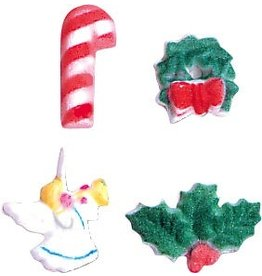 PFEIL & HOLING FANCY CHRISTMAS SUGAR ASST 1 3/4'' BOX 180 CT
