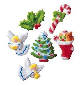 LUCKS FOOD DECORATING DELUXE CHRISTMAS ASST SUGAR 1 7/8'' BOX 150 CT
