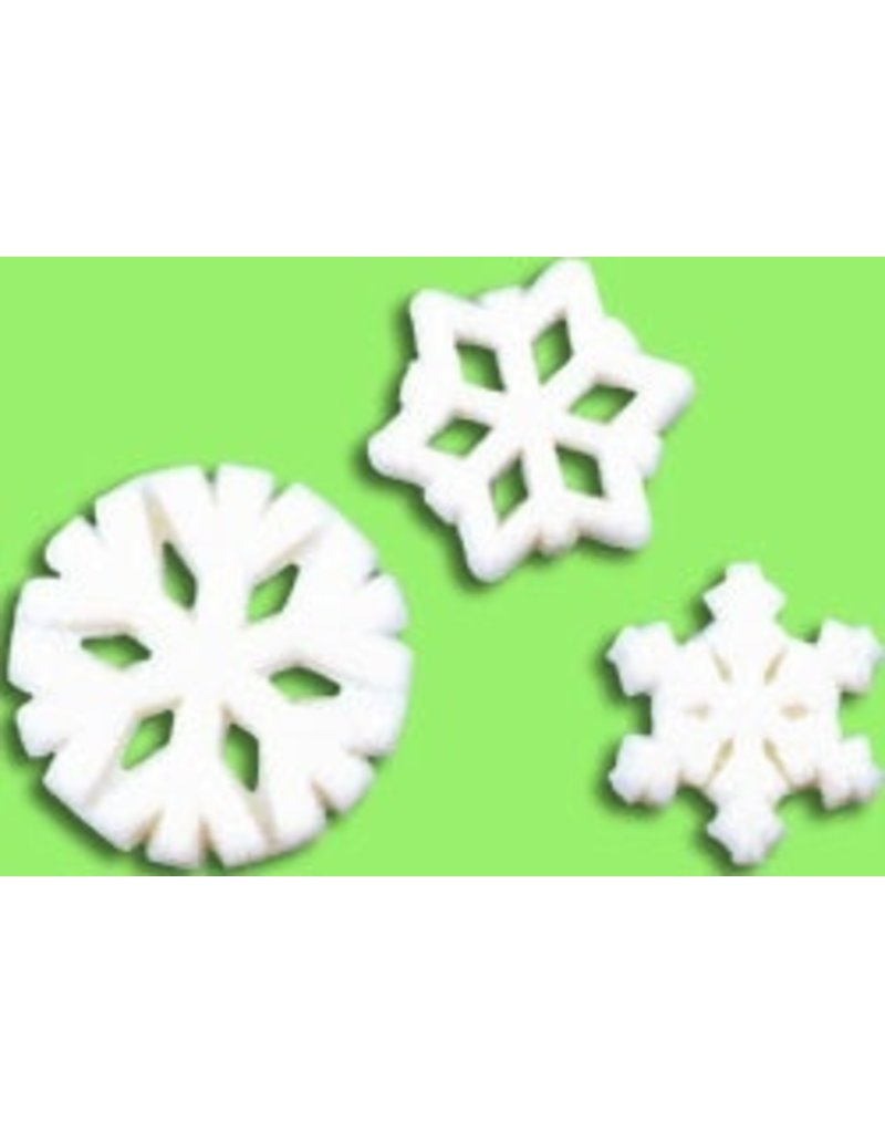 PFEIL & HOLING SNOWFLAKE SUGAR ASST 3/4'' - 1 1/4'' BOX 138 CT P&H