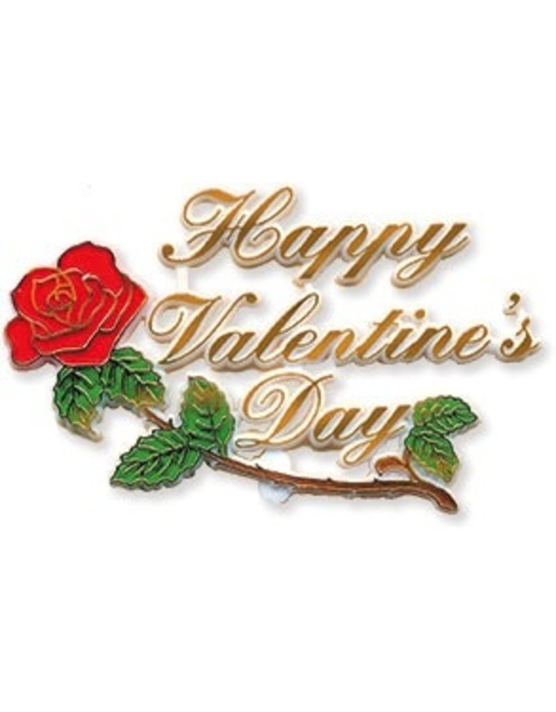 "PFEIL & HOLING HAPPY VALENTINE ROSES PLAQUE 4"" BOX 48 CT"