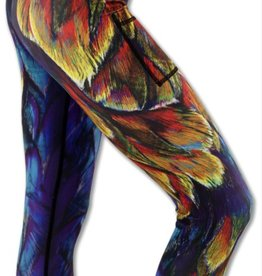Ink N Burn Painted Feather Capris