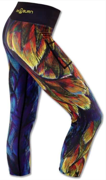 Ink N Burn Painted Feather Capris