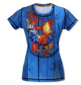 Ink N Burn Fire Rooster Tech Shirt