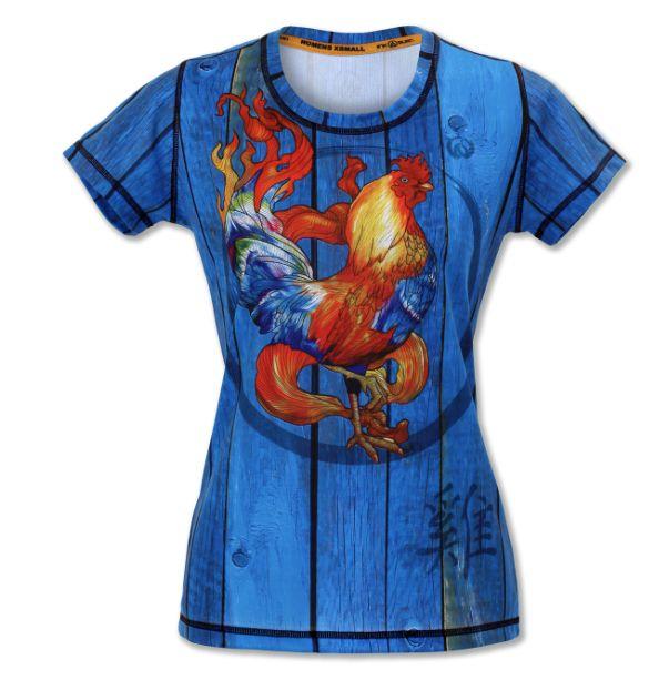 Ink N Burn Fire Rooster Tech Shirt