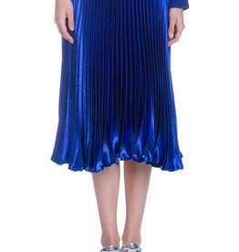 English Factory Satin Pleated Skirt
