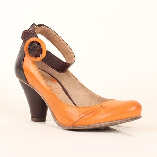 Chocolate Ankle Strap Pump