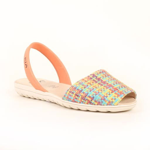 Ria Leather Multi Corored Sandal