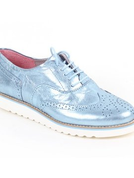 Apple of Eden Apple of Eden Metallic Blue Loafer