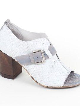 Gold Button Felmini Stacked Heel Sandal