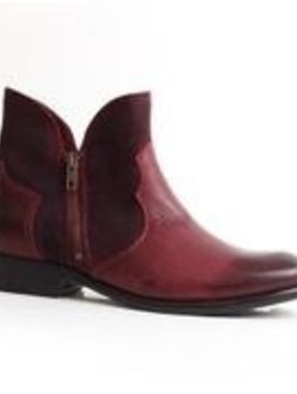 Suede and Leather Ankle Bootie