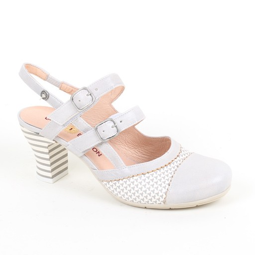 Gold Button Strappy Shoe