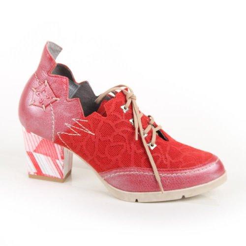 Maciejka Red Tie Up Edgy Shoe