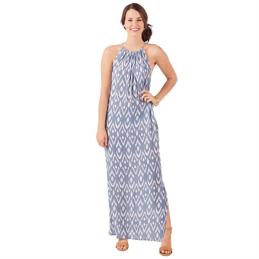 Mud Pie Miley Ikat Maxi Dress