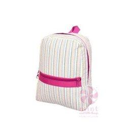Mint Rainbow Seersucker Small Backpack