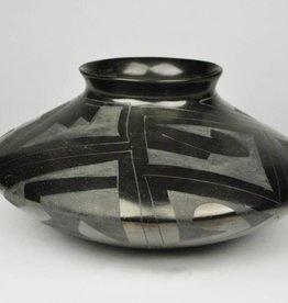 Nicolas Silveira Black on Black, Wide Geometric Bowl