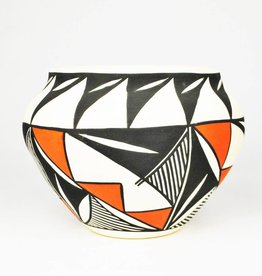 M. Chino White, Black & Red Bowl