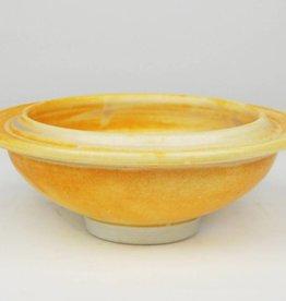 Dave Shaner Small Bowl, Orange Glaze